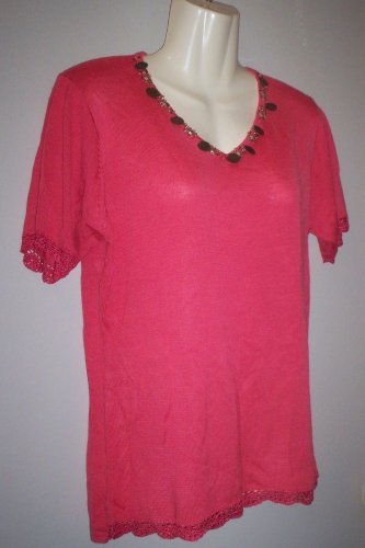 *~SALE!! NWT Vintage Pretty Jenny S/s Top sz M