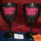 *~Lot of 4 Vampire Blood Wine Glasses