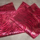 "*~2 New Red Velvet & Foil Zebra Print Throw Pillow Cases/Covers 17""x17"""