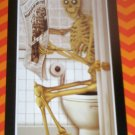 *~New Halloween Skeleton on Toilet Door Cover