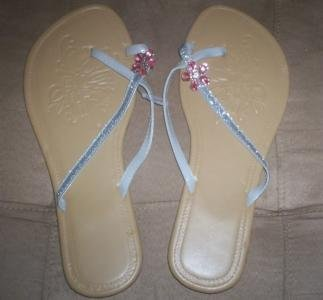 *~New Avon Flowers in Bloom Sandals (PINK) sz 11/12