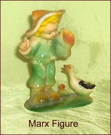 Marx  Little Boy Little Farmboy Vintage  Figure Hard Plastic
