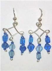 3 Drop Diamond blue beads