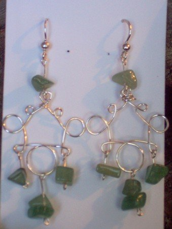 loops and loops with green stones