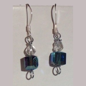 deep blue crystal square