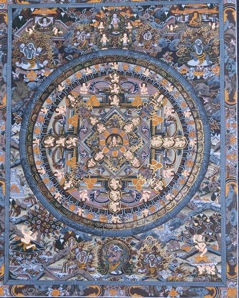 Mandala Thangka (Thanka) Tibetan Art Painting from Nepal