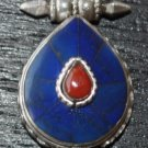 Pendant with Lapis and coral-p8-rs