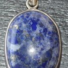 Round pendant with lapis ston-p11-rs
