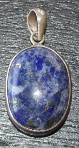 Round pendant with lapis ston-p11-rs