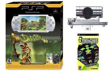 """PSP-2001 Slim """"Mega Bundle"""" - Silver Bundle w/ Daxter, 1GB Mem, PSP CAMERA, 21 games"""