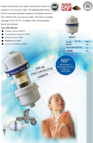 Shower Filter KDF55/GAC+