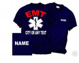 Personalized EMT logo Firefighter T-shirt Fire Department Uniforms
