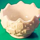 Westmoreland OLD QUILT Milk Glass Rose Bowl