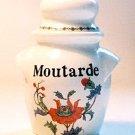 Porcelaine De Paris PAVOT Mustard Jar France