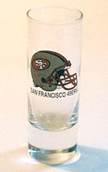 Shot Glass SF 49ERS  San Francisco Tall  2 oz