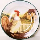 Block COUNTRY FARM Salad Plate Rooster