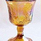 Indiana Glass HARVEST GRAPE Goblet Carnival Set 2 Vintage