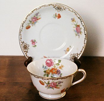 Noritake M Floral Cup Amp Saucer Occupied Japan