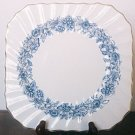 Royal Doulton MAYFAIR BLUE Luncheon Plate Square England Vintage