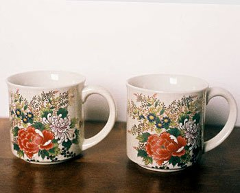 Floral Mug Chrysanthemum Set of 2