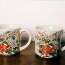 Floral Mug Chrysanthemum Set of 2