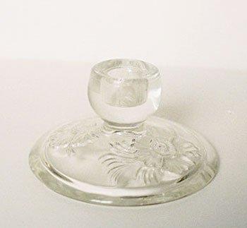 Jeannette CAMELLIA Candle Holder Glass Vintage