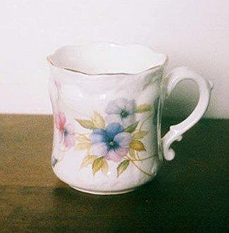 Harleigh China PANSY Mug Cup Floral England