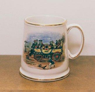 James Kent OLD FOLEY Mug STEAM COACH England Vintage