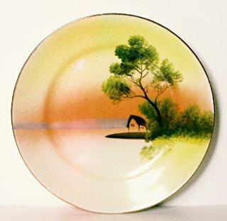 Noritake M Handpainted Plate Japan Vintage