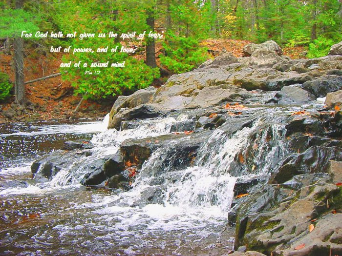 Eagle River Falls**Original Matted Photo**2 Timothy 1-7