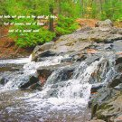 Eagle River Falls**Original Matted Photo**2 Timothy 1-7