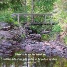 "Mangenese Bridge*8""x10"" Original Photo**Proverbs 8:34"