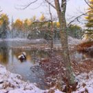 "Rice Lake Winter**8""x10"" Matted original Photo"