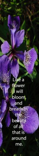 Wild Purple Irises***Inspirational