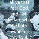 Maganese Falls Winter scene***Biblical/Psalm 66:16