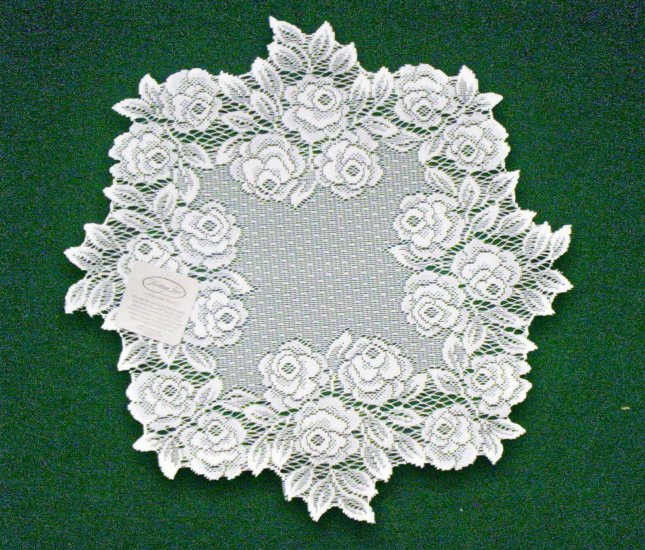Doilies Tea Rose  Doily White Lace 15 Inches R Set Of (2) Heritage Lace