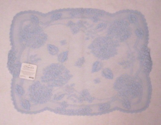 Hydrangea Placemat 14 x 19 Sky Blue Heritage Lace Set Of (5)