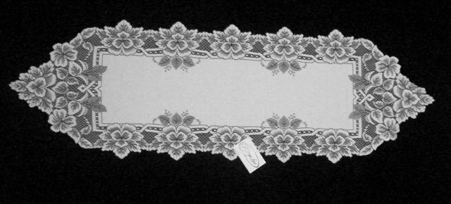 Heirloom  Table Runner 14x44 White Heritage Lace