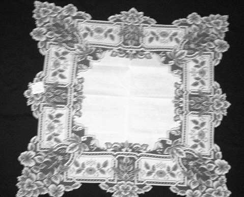 Heirloom  Table Topper 36 x 36 White  Heritage Lace