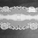 Table Runner Vintage Rose White Table Runner 12 x 36 Heritage Lace