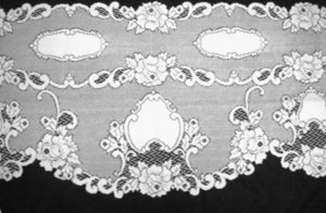 Mantle Scarf Vintage Rose Lace Mantle Scarf 20 x 90  White Heritage Lace