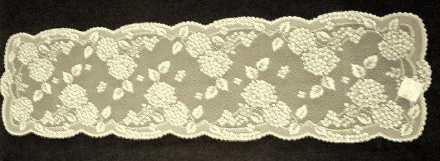 Table Runners Hydrangea 14 x 53 Ecru Table Runner Heritage Lace