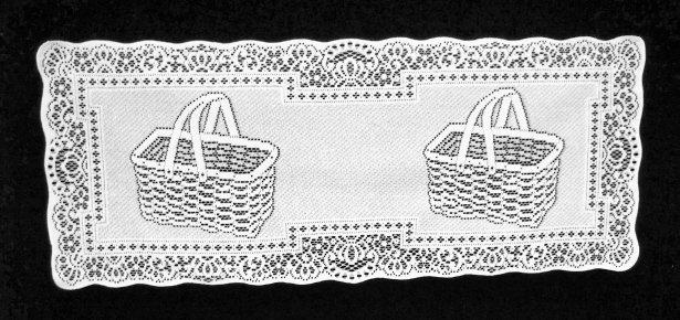 Table RunnerPicnic Basket White 14 x 35 Table Runner Oxford House