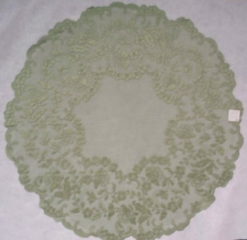 Elizabeth Table Topper Silver Sage 42 Inches Round
