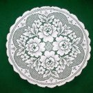 Victorian Rose 17 Round White Doily Set of (2) Heritage Lace