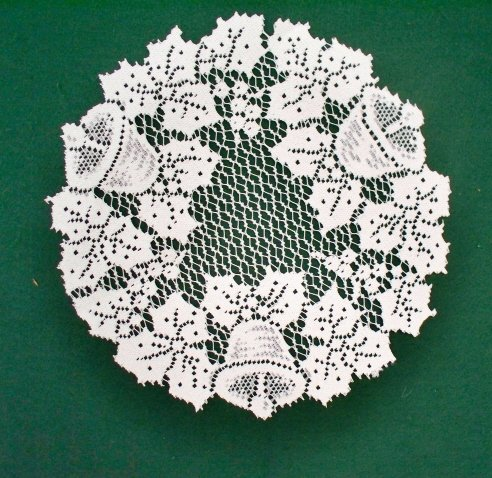Bells and Holly Doily 12 R White Heritage Lace Set Of (2)