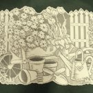 Placemats Garden Scene Table Linens Ivory 13x19 Heritage Lace Set Of (4)