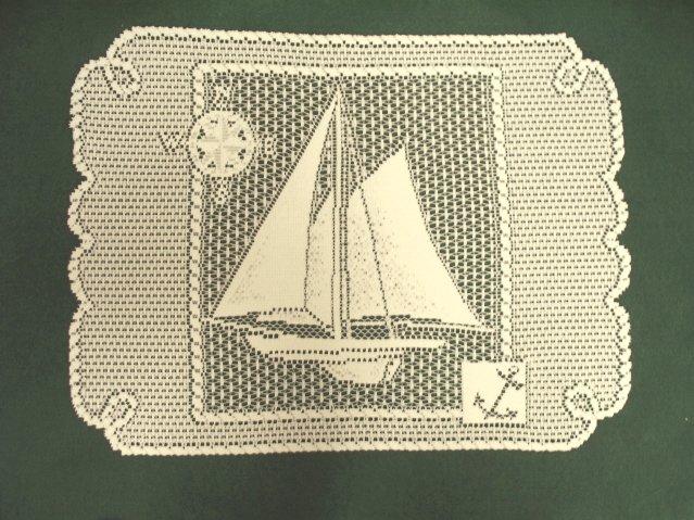 Set Sail Placemat/Doily 14 x 20 Ecru Heritage Lace Set Of (4)