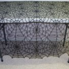 Table Topper Spider Web Lace Table Linens  60 x 60 Heritage Lace