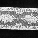 Rose Table Runner White 14 x 36  Heritage Lace